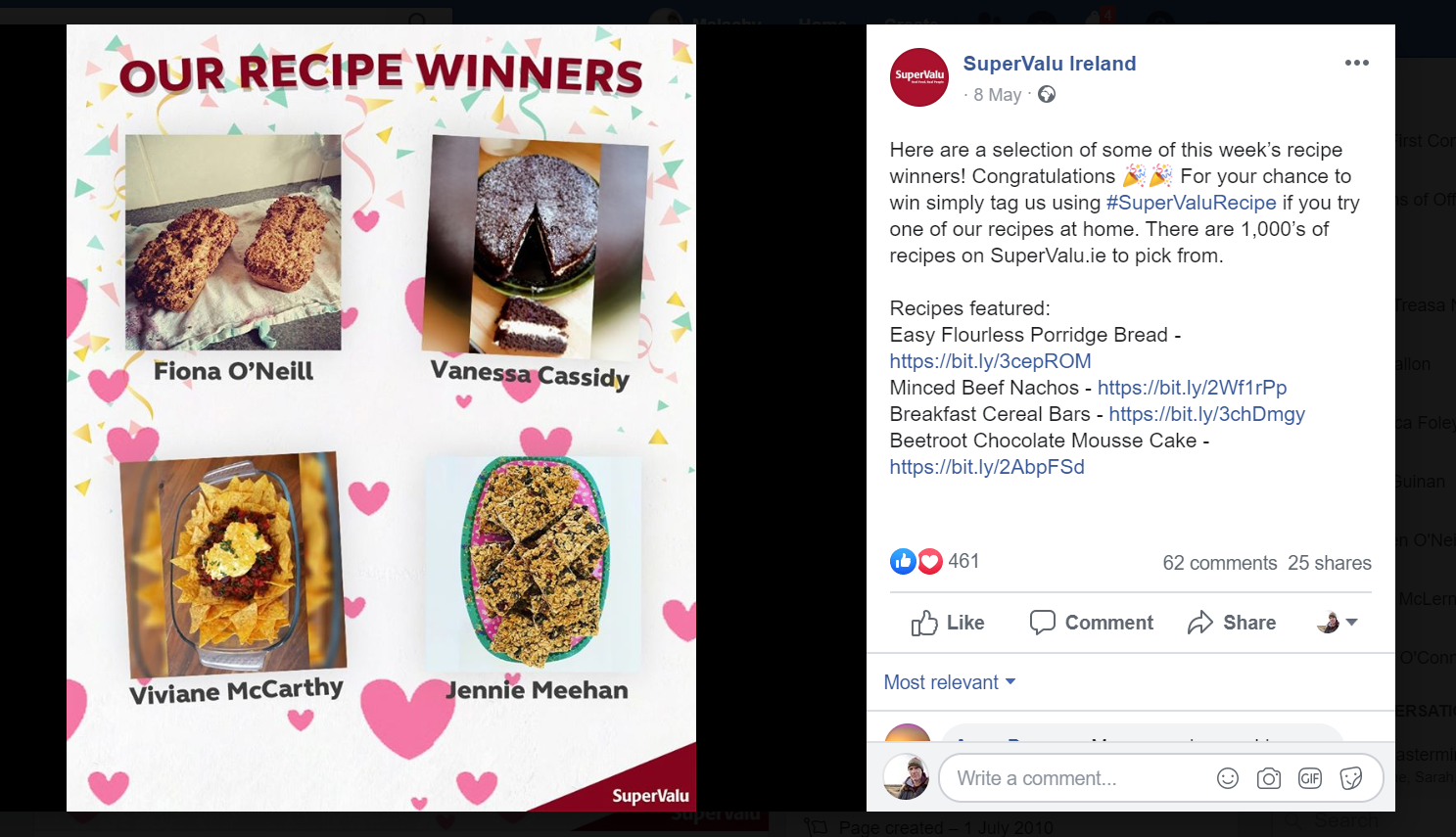 SuperValu stay engaged with shoppers through bakery competitions