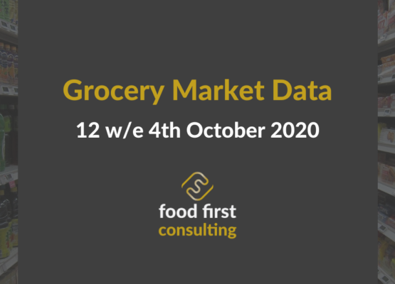 Grocery Market Data 12 w/e 4th October 2020