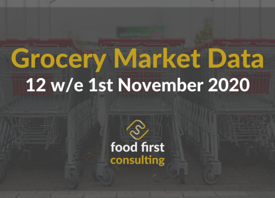 Grocery Market Data 12 w/e 1st November 2020